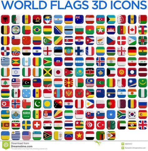 drapeaux des pays du monde illustration stock image
