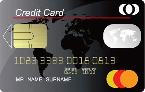 credit card vector templates
