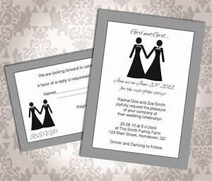 lesbian wedding invitation commitment ceremony girl With gay wedding invitations samples