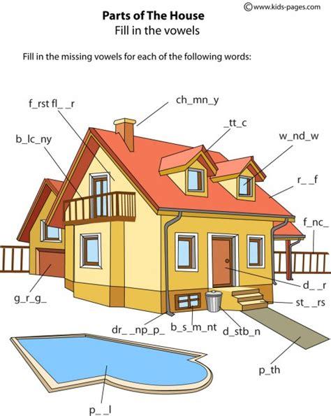 house parts 1 worksheet