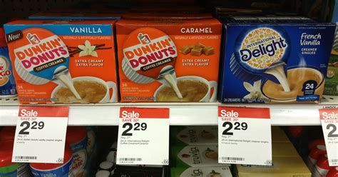 2 dozen donuts, 2 dozen bagels, 4 8oz. Target: International Delight & Dunkin' Donuts Single Serve Creamers 24 Ct Boxes Just $1.29-$1 ...