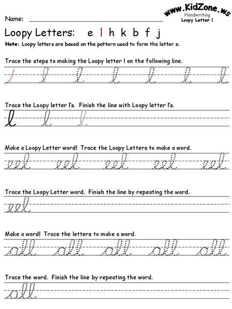 cursive writing worksheets teaching ideas pinterest