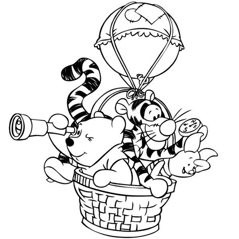 Kleurplaat Winnie The Pooh Baby by Leuk Voor Winnie De Pooh En Vriendjes In Een
