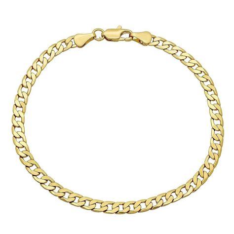 gold bracelet 14k pori 39 s 14k gold cuban chain bracelet ebay