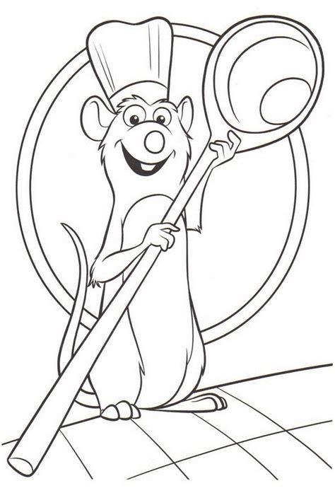 cuisine recette dessins de ratatouille à colorier