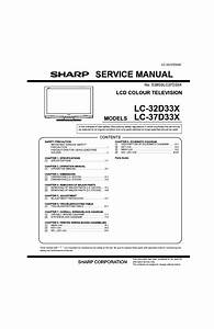 Sharp Lc32d33x Lcd Tv Sm Service Manual Download