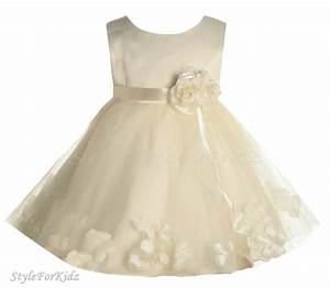 baby girls ivory cream christening wedding bridesmaid With baby dresses for wedding