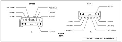Ford Windstar Factory Autodimming Rear View Mirror Wire
