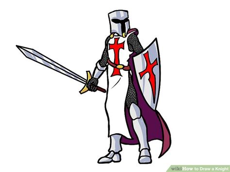 How To Draw A Knight (with Pictures)