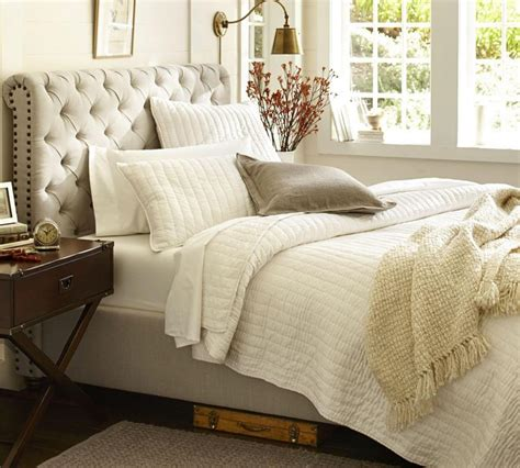 pottery barn headboards chesterfield upholstered bed headboard pottery barn