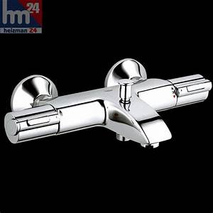 Mitigeur Thermostatique Bain Douche Grohe : bath tap grohe grotherm 1000 thermostatic with shower mixer 1 2 34155 34155000 ebay ~ Melissatoandfro.com Idées de Décoration