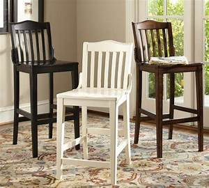 Pottery Barn Bar Stools Caldwell Tufted Leather Swivel
