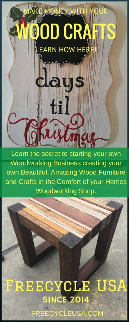 easy money   wood crafts freecycle