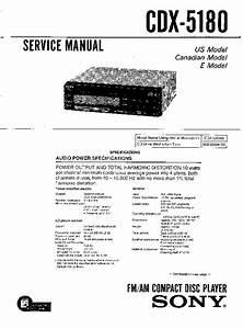 Sony Cdx-5180 Service Manual