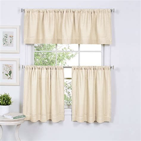 Cameron Kitchen Curtains  Ivory Boscov's