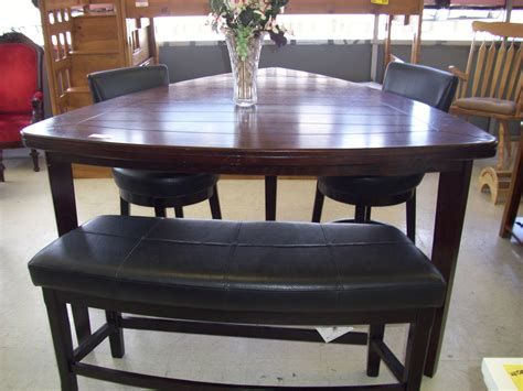 dining table with stools pub style dining room sets with triangle wooden dining