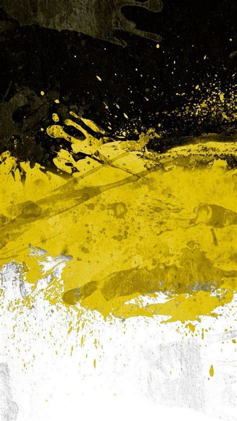 Abstract Black Textures White Yellow Wallpaper (142342