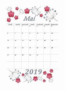 Calendrier Par Mois : calendrier mensuel 2019 mois de mai calendrier 2019 ~ Dallasstarsshop.com Idées de Décoration