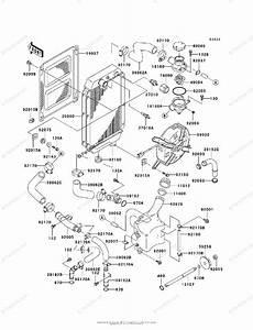 Kawasaki Motorcycle 1998 Oem Parts Diagram For Radiator