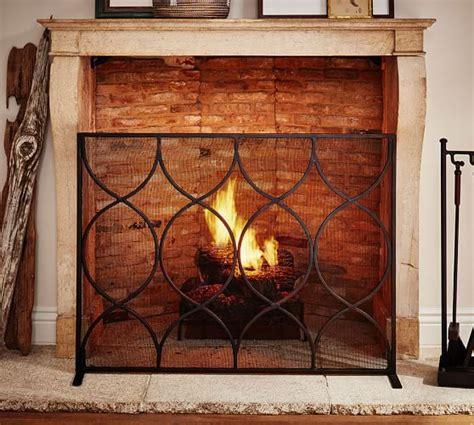 pottery barn fireplace screen moroccan twist fireplace single screen pottery barn