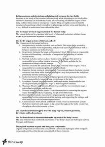 Human Structure  U0026 Function Complete Study Guide