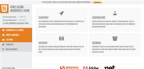 html5 blank 12 best starter themes frameworks for developers 2015 85ideas