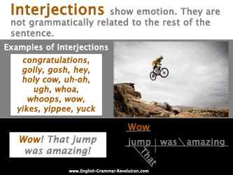 Modified Definition Grammar by What Is An Interjection