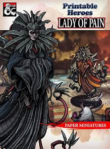 Oc  Free Lady Of Pain Paper Miniature   Dnd