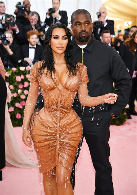 double  kim kardashians met gala dress   optical