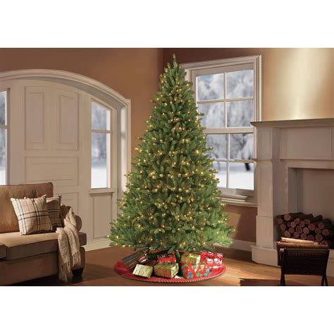 11ft pre lit artificial christmas puleo 9 ft pre lit fraser fir artificial tree with 1000 constant clear lights 277 ff