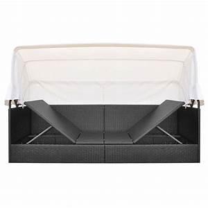 Rattan Lounge Mit Dach : exquisit gartenliege polyrattan schwarz dasversandhaus24 de rattan liege mit kissen liegestuhl ~ Bigdaddyawards.com Haus und Dekorationen