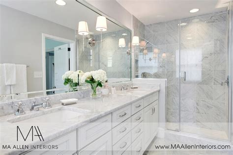 white cabinets  white marble countertops