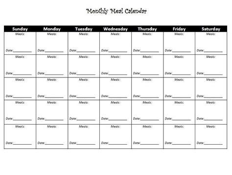 Diet Calendar Template monthly diet calendar template calendar 2018 in 2019