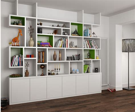 Mdf Painted Bookcase In The Living Room