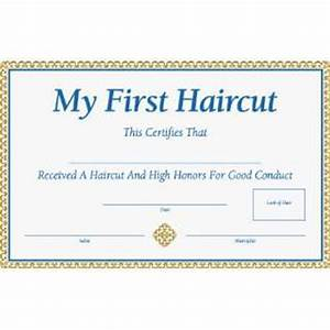 pin first haircut certificate on pinterest With my first haircut certificate template