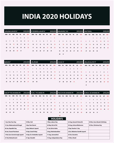 indian public holidays calendar indian holidays printable