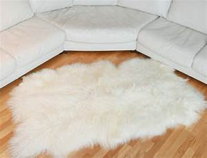 tapis en peau de mouton islandais blanc With tapis peau de mouton synthétique