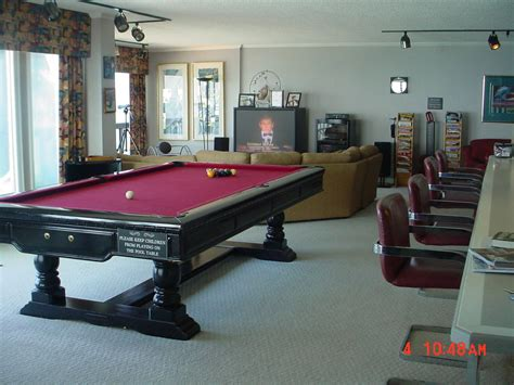 pool table in living room summit penthouses