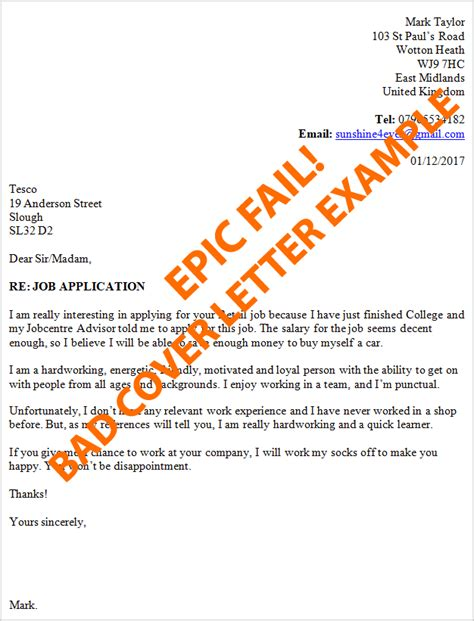good covering letter examples examples of a bad cover letter 21970 | bad cover letter example 1