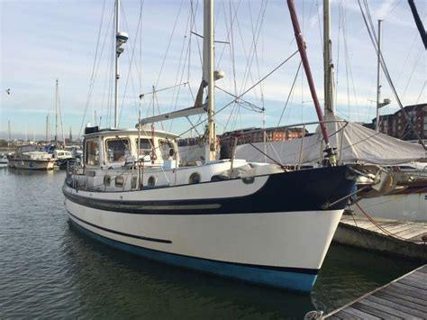 Sailing Boats For Sale Uk by 1969 Banjer 37 Motor Sailer Sail Boat For Sale Www