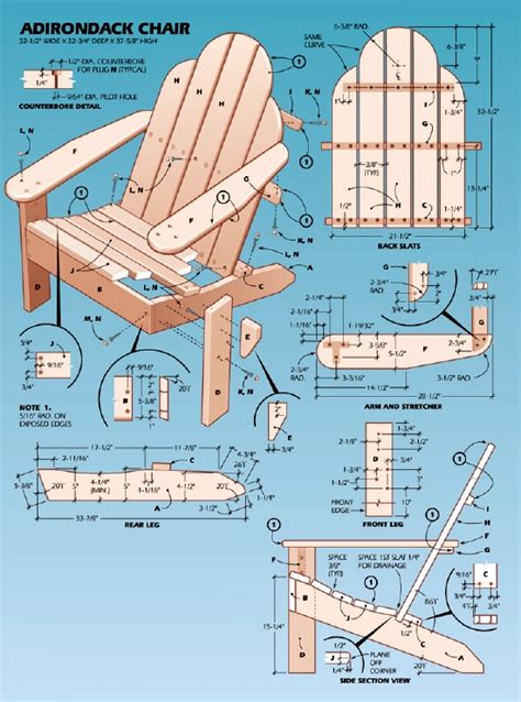 pdf plans easy adirondack chair plan stain