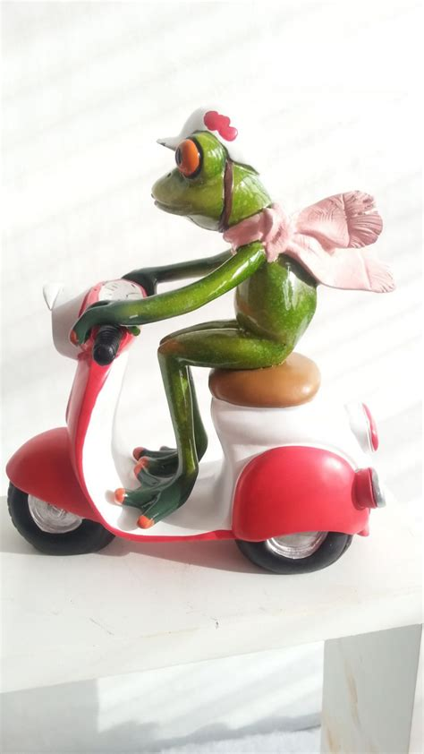 garten deko roller frosch dekofrosch geburtstag motorroller geschenk