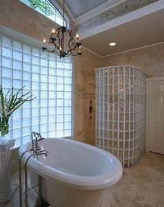 mettons des briques de verre dans la salle de bains With salle de bain design avec décoration noel professionnel