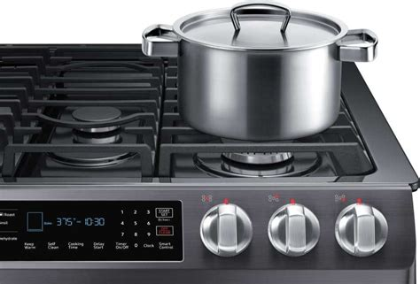 nxrsg samsung     gas range black stainless steel