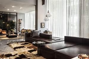 Braunes Sofa Welche Wandfarbe : dise o de apartamento tipo loft moderna decoraci n ~ Watch28wear.com Haus und Dekorationen