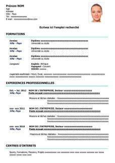 Des Exemples De Cv Word by Exemples De Cv 224 T 233 L 233 Charger Gratuit Au Format Word