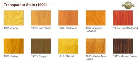world  stains color charts stain colors links