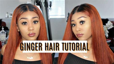 How To Burnt Orangeginger Hair Dyeing Tutorial Julia