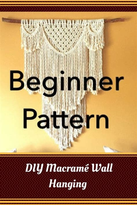pattern  diy macrame wall hanging beauregard beginner