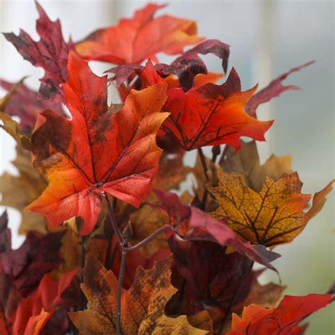 fall artificial maple leaf bush fall florals fall